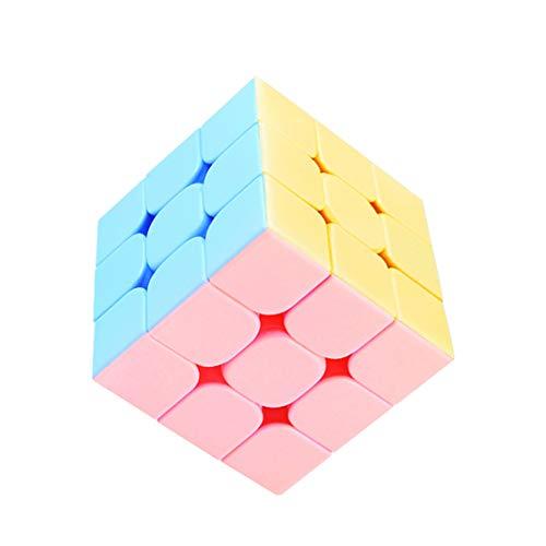MTGYF Rubik's Cube Macaron der dritten Ordnung Farbe Kinderwürfel der dritten Ordnung Anfängerwettbewerb spezielle intellektuelle Entwicklung professionelles Lernspielzeug 5.6cm