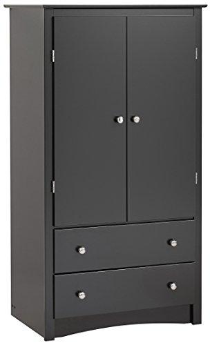 Black Sonoma 2 Door Armoire