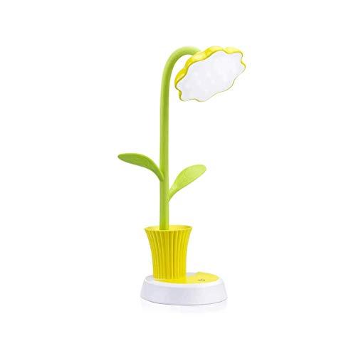 DYXYH SQDDM Sun Flower Pluma Titular de la lámpara LED Mini Almacenamiento con lápiz el sostenedor Plegable de la lámpara de Lectura Adecuado for el Estudio de la Oficina (Color : Yellow)