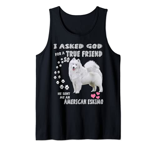 Disfraz de mamá de Eskie, cachorro de Spitz alemán, perro esquimal americano Camiseta sin Mangas