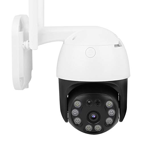 CCTV 100‑240V Cámara PTZ 8 Luces Seguimiento automático Visión Nocturna 3MP para vigilancia al Aire Libre(European regulations)