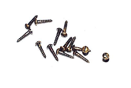 Messing Schrauben, DIN 96, 2 x 10 mm, patiniert,