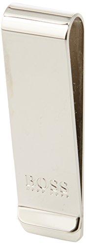 BOSS Business Majestic_money Clip - Fermasoldi Uomo, Argento (Silver), 1x6x1.8 cm (B x H T)