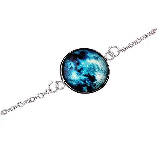 Ameesi Fashion Jewelry - Pulsera de cabujón Que Brilla en la Oscuridad, diseño de Luna