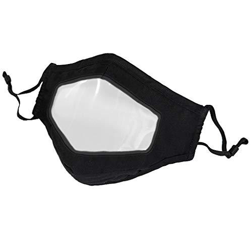 [ Abdeckung ] Gesicht Oder Mund, Erwachsene Unisex Staubdicht Atmungsaktiv Mit Transparent Sauberes Fenster Sichtbare Lippen Ausdruck Waschbar