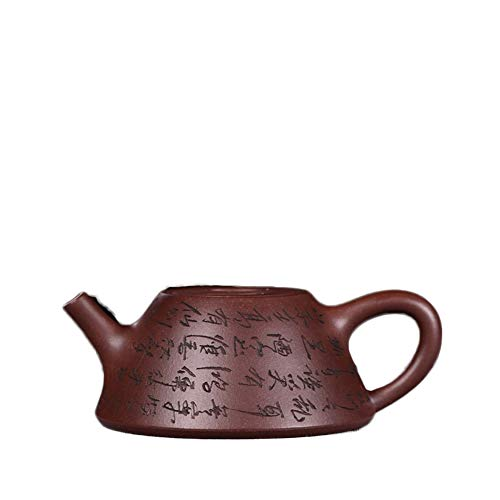 YYFUS Yixing Teapot Full Of Hand-made Engraving Cattle Cover Stone Pot Pot Kung Fu Tea Set Tea Maker Sand Pot (Color : Purple mud)