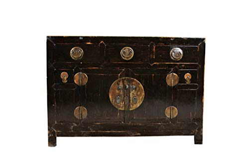 Fine Asianliving Buffet Chinois Commode Chinois Meubles Chinois Armoire de Mariage Chinoise Style Rangement Chinois Mobilier Oriental Armoire Orientale Asiatique Mandarin Pekin 126 x 89 x 50