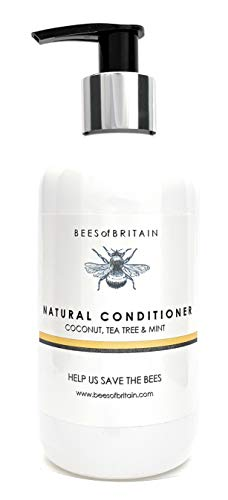 Naturel APRÈS SHAMPOING - COCO, ARBRE A THÉ & MENTHE - 250ml - par BEES of BRITAIN. Sans Sulfates, Sans Parabènes, Sans Silicone. On Donne 5% de Bénéf