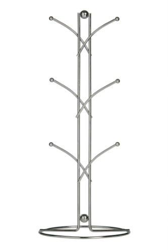 Premier Housewares - Soporte para tazas en forma de Árbol (39 cm, 6 tazas), color cromo