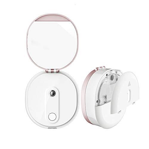QJXF Mini Maquillage Voyage Miroir De Poche avec Fonction De Réapprovisionnement Et Mobile Power, Portable Home Vanity Mirror Make Up Outil pour Les F