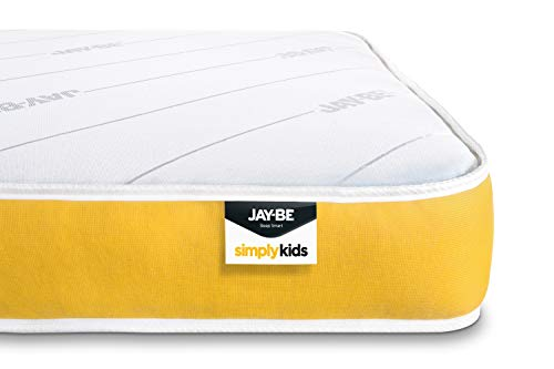 JAY-BE Simply Kids Anti-Allergy e-Pocket Sprung Mattress, Foam Free, Small Double