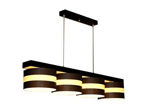 Hängelampe Hängeleuchte Pendellampe Designer Lampe TOSCA 4 flammig Leuchte (Creme Streifen)