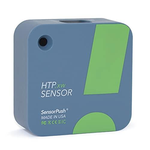 SensorPush HTP.xw Kabelloses Thermometer/Hygrometer/Barometer, extreme Genauigkeit, wasserdicht für iPhone/Android – Made in USA – Smart Sensor mit Warnfunktion für Luftfeuchtigkeit/Temperatur/Druck