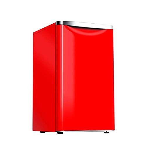 BD.Y Portátil 72L Independiente Debajo del mostrador Refrigerador Descongelación de una tecla Temperatura Ajustable 8L Congelador Suave 64L Cámara fría Mini de bajo Consumo de bajo Ruido 70cm Roj