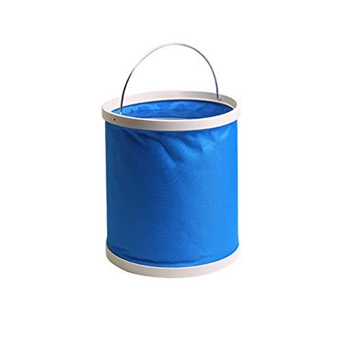 TXXM Falteimer bewegliche Auto-Wäsche-Eimer-Teleskop Outdoor Angeln Eimer 13 Liter 20 Liter (Color : Light Blue, Size : 13L)