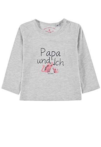 TOM TAILOR Kids T- Shirt Placed Print, Beige (Lunar Rock Mélange 8439), 95 (Taille Fabricant: 80) Bébé Fille