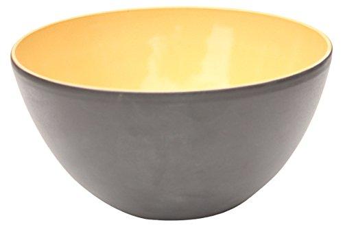 Amazing Cookware Bol en Terre Cuite, en céramique, Noir Mat/Jaune, 28 x 28 x 28 x 14 cm