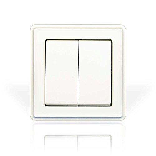 minify programa interruptor empotrable ECO Plus con VDE - Blanco, simple: Doble balanción