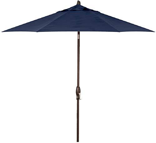 Treasure Garden 9-Foot (Model 920) Push Button-Tilt Market Umbrella Bronze Frame Obravia2 Fabric: Navy