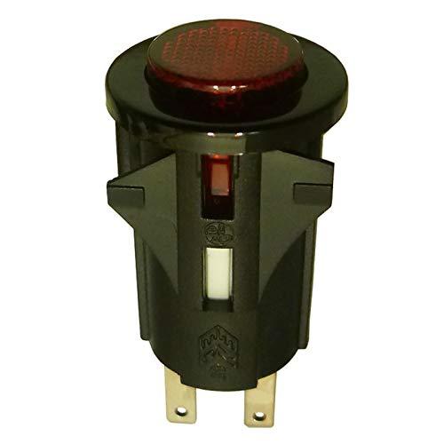 SPST Interruptor momentáneo iluminado rojo 1 circuito 1A 250V apagado (encendido)