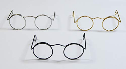 Toy Glasses - Mini Spectacles for Dolls or Santas - Choice of Sizes & Colours (Mixed Colours - 6.2cm x 2.5cm, Pack of 10)