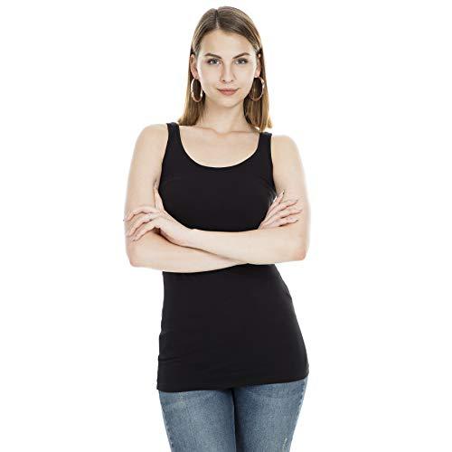 Vero Moda Vmmaxi My Soft Long Tank Top Noos Camiseta sin Mangas, Negro (Black), 38 (Talla...