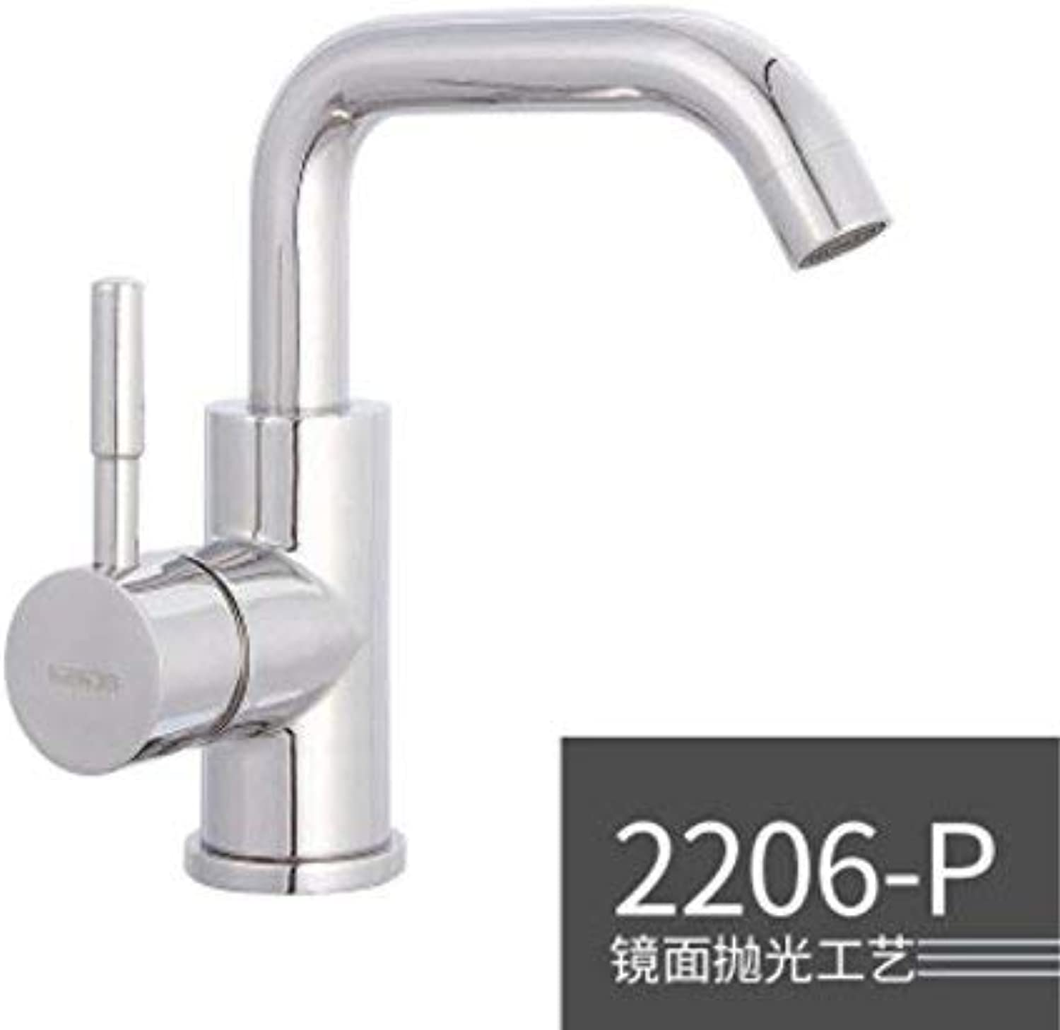Oudan 304 Stainless Steel Basin, Faucet, Hot and Cold Water Tank, Kitchen Faucet Washbasin. (color   -, Size   -)