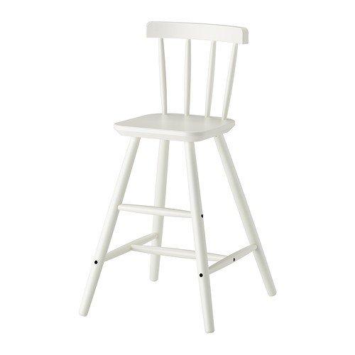 IKEA Agam Kinderhochstuhl in weiß; aus Massivholz