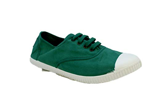 Calego - Zapatos de Cordones de Tela para Mujer (41 EU, Verde)