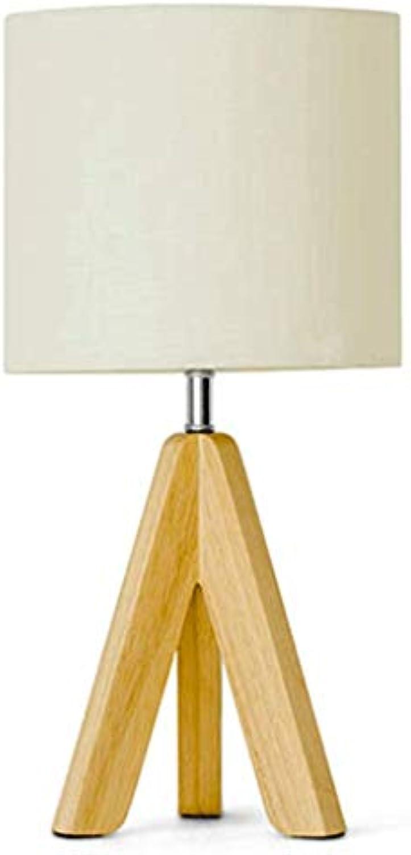 Unbekannt LC Japanischen Stil Holz Kunst Tischlampe Schlafzimmer Nachttischlampe Nordic Leinen Nachttischlampe (dimmer Schalter) L (Farbe   A)