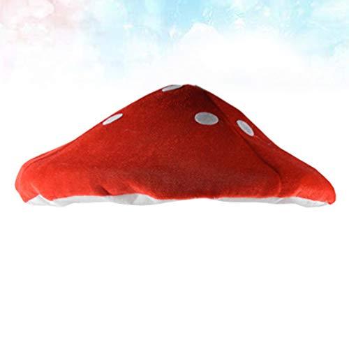 NUOBESTY Kinder Pilz Hut Plüsch Party Hüte Rot Cosplay Kostüm Hut Foto Prop Hut Kleinkind Kopf Dekoration für Halloween Party