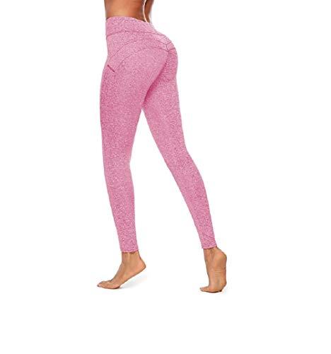Ducomi MYA Leggings Damen Push Up - Abnehmen High Waist am Gesäß für Schlanke Silhouette Sensationelle Kurven - Praktikabilität und Sinnlichkeit für Yoga, Pilates und Fitness (Rosa, L)