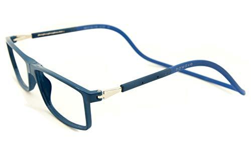 NOWAVE leesbril voor computer, tablet, smartphone | voorkomt vermoeidheid van de ogen | ultralicht frame met magneetsluiting | bril met 40% UV-filter