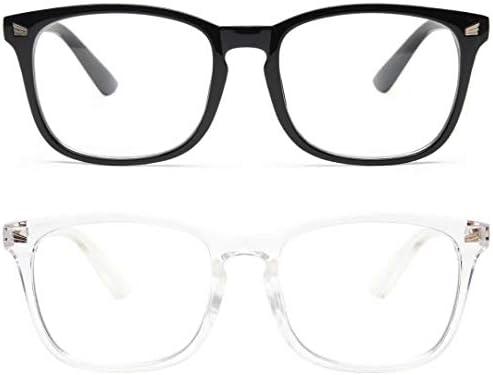 livho 2 Pack Blue Light Blocking Glasses Computer Reading Gaming TV Phones Glasses for Women product image