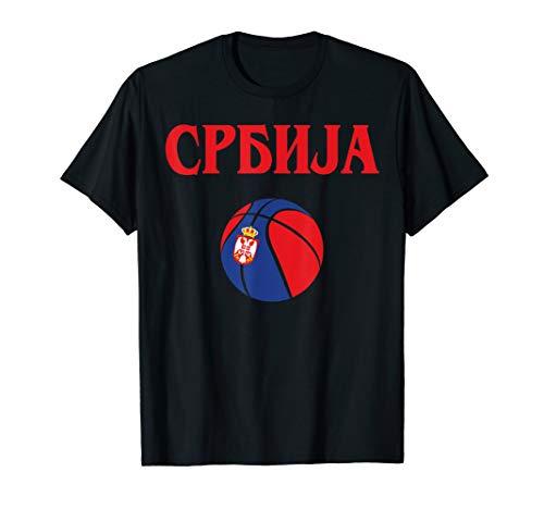 Serbia Basketball Jersey Srbija Basketball Flag Gift T-Shirt