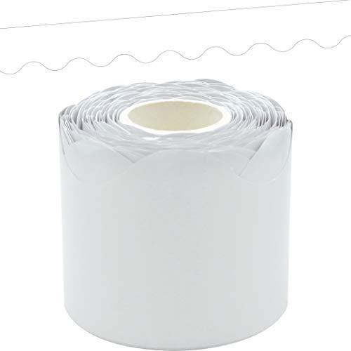 White Scalloped Rolled Border Trim