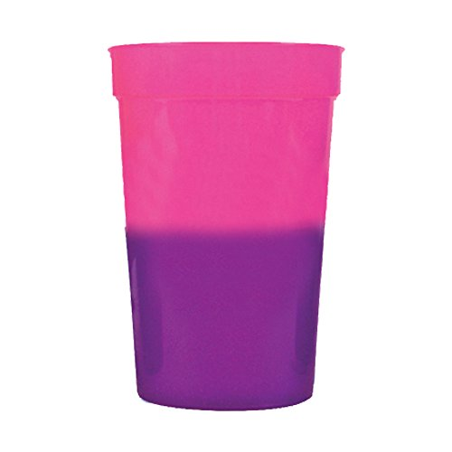 12oz Color Changing Stadium Cup, Set of 12, Pink to Purple - MADE IN USA
