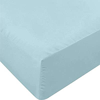 Utopia Bedding Fitted Sheet - Soft Brushed Microfiber - Deep Pockets, Shrinkage and Fade Resistant - Easy Care - 1 Fitted Sheet Only (Full, Spa Blue)