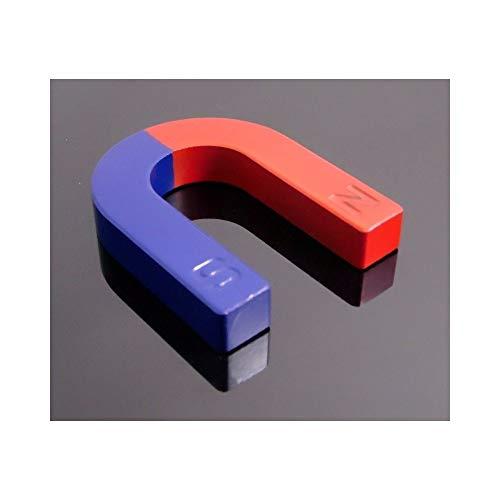 TrAdE Shop Traesio- 2 X Magnete DIDATTICO CALAMITA 30MM A Forma di U Positivo E Negativo Nord Sud