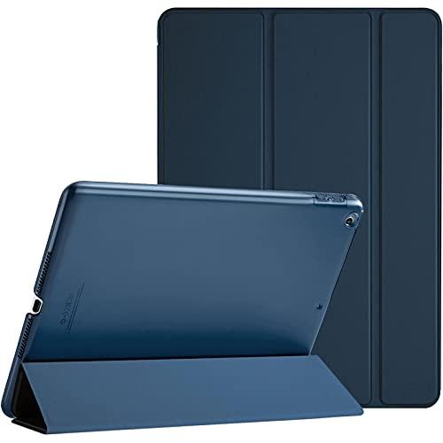 "ProCase iPad 9.7""(旧型)ケース スマート 超スリム スタンド フォリオ保護ケース 半透明フロスト バックカバー 対応機種:iPad 9.7"" 第6世代 2018 / 第5世代 2017 - ネービー"