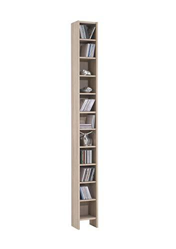 AVANTI TRENDSTORE - Duno - Scaffale in Legno Laminato con 11 Ripiani, Disponibile in Diversi Colori, Dimensioni Lap 19,5x185x16,5 cm (Marrone)
