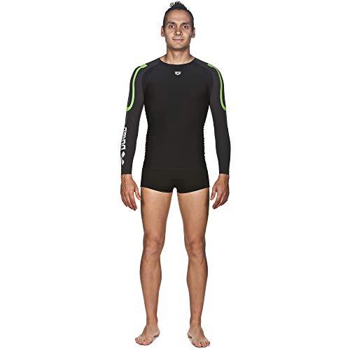 ARENA heren Arena Compressieshirt met lange mouwen voor heren, carbon arena Herren Kompressions Langarm Shirt Carbon