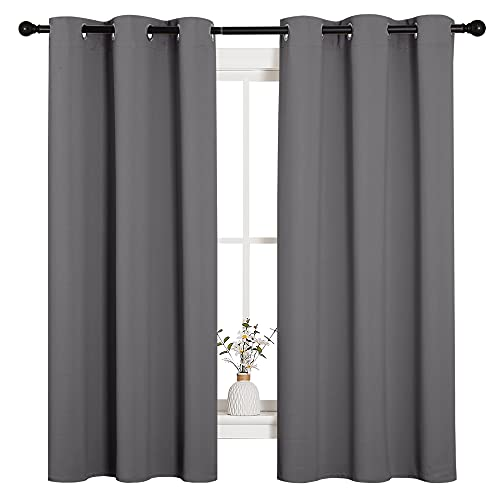 NICETOWN Thermal Insulated Grommet Blackout Curtains for Bedroom (2...