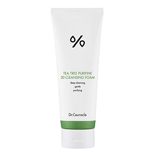 Dr.Ceuracle Tea Tree Purifine 30 Cleansing Foam - Full Body Cleansing Foam That Also Moisturizes, and Protects Skin - Non-Allergenic - Non sensitizing - Daily Hydrating Skin Anti Acne - 150ml/5.07oz