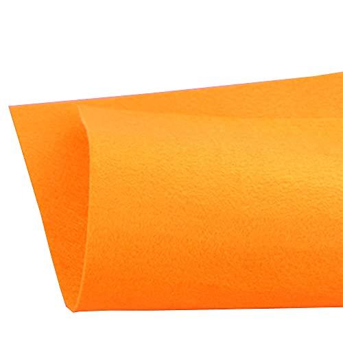 JUANJAUN Hojas de Fieltro Tela de Fieltro Hoja de Fieltro DIY para Manualidades DIY Costura Patchwork 1mm Paquete de Hojas de Fieltro Grueso para Manualidades(Size:1mm,Color:No. 2 Orange)