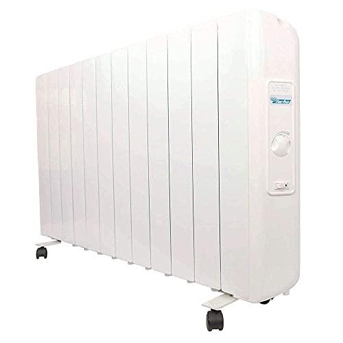 farho Radiador Electrico Eco R Ultra 1990W (12) · Emisor Termico con Termostato Analógico · Ruedas Incluidas · Radiadores Electricos Bajo Consumo para Estancias de hasta 27 m² · 20 AÑOS DE GARANTÍA