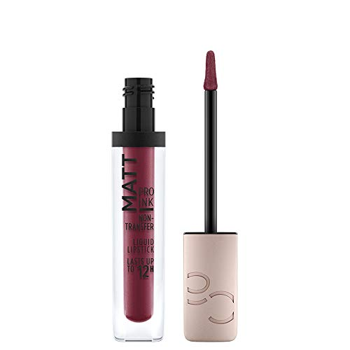 Catrice Matt Pro Ink Non-Transfer Liquid Lipstick, Lippenstift, Nr. 100 Courage Code, rot, mattierend, langanhaltend, schnelltrocknend, matt, intensiv, farbintensiv, vegan, ohne Alkohol (5ml)