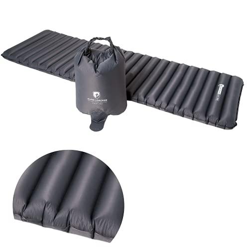 ALPIN LOACKER Light Pro aufblasbare Ultra-leichte Outdoor Isomatte 690g und 8cm dick 2.0 NEU | Schlafmatte | kleines Packmaß (aufblasbare Isomatte | Schwarz)