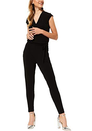 comma Damen 85.899.85.0770 Jumpsuit, Schwarz (Black 9999), (Herstellergröße: 42)