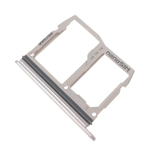 Nano Sim Micro SD Card Holder Tray Replacement for LG G6 H870 H871 H872 LS993 US997 VS988 (Silver)